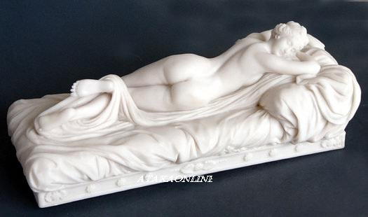 SLEEPING HERMAPHRODITE-GREEK-ROMAN-SCULPTURE-ARTWORK (6458)
