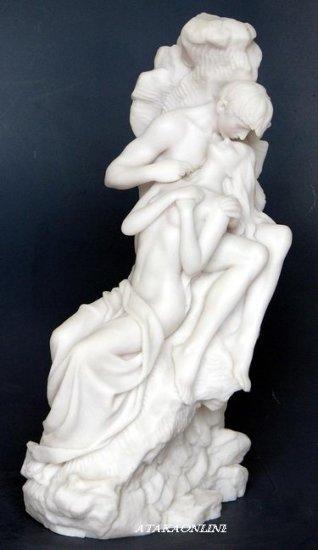 THE KISS-LOVING COUPLE-COMPASSION-GREEK-ROMAN-SCULPTURE-ARTWORK (6451)
