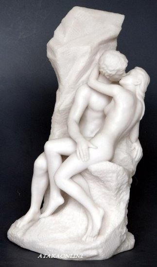 THE KISS-LOVING COUPLE-COMPASSION-GREEK-ROMAN-SCULPTURE-ARTWORK (6452)