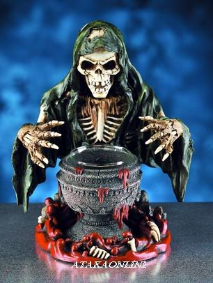 SKULL WIZARDRY CANDLEHOLDER-BUY NOW (5986)