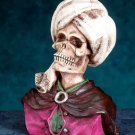TURBAN SKULL FIGURINE-SKELETON-BIZARRE-HALLOWEEN (5700)