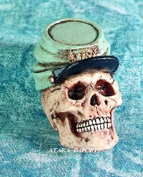 U.S. SOUTH SKULL FIGURINE-SKELETON-GENERAL-HALLOWEEN (4385)