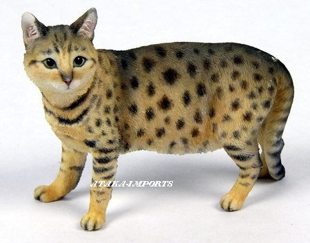 BENGAL CAT FIGURINE (6543s)