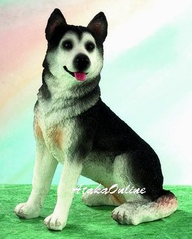 ALASKAN MALAMUTE DOG FIGURINE-MAL- (5023)