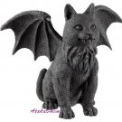WINGED CAT GARGOYLE-STONE-GOTHIC (6321)