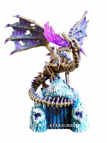 DRAGON GUARDIAN OF THE FROZEN GATES-FIGURINE-STATUE (6205)