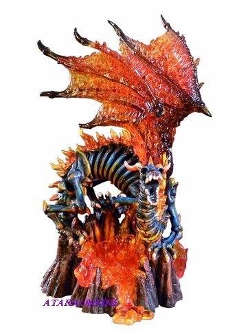 DRAGON GUARDIAN OF THE FIERY GATES-FIGURINE-STATUE (6210)