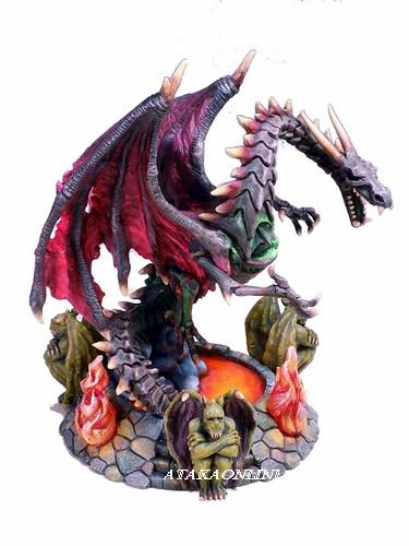 DRAGON GUARDIAN OF THE ARCHAIC GATES-FIGURINE-STATUE-W GARGOYLES (6206)