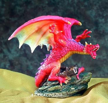 DRAGON W SPREADING WINGS-FIGURINE-STATUE (5365)