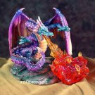 DRAGON BREATHING FIRE-FIGURINE-STATUE (5540s)