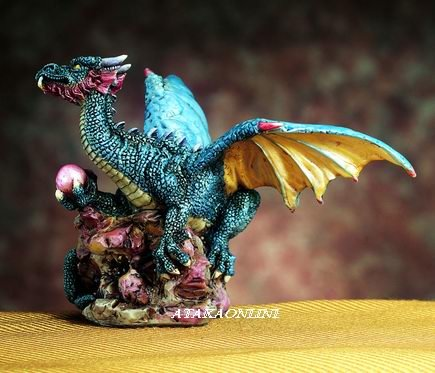 SMALL DRAGON (PURPLE)-FIGURINE-STATUE (4747)
