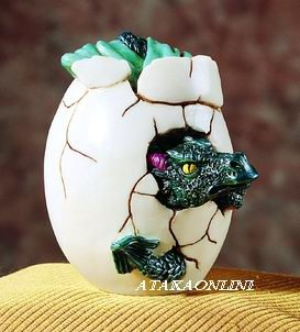 BLUE DRAGON HATCHING-FIGURINE-STATUE (5194s)