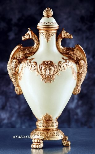 ELEGANT WHITE DRAGON VASE (5924)