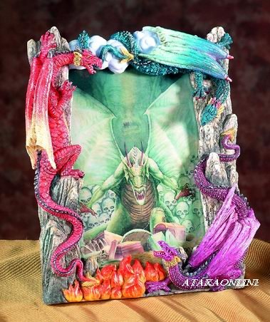 "DRAGON PICTURE FRAME - 4"" X 6""-  (5538)"