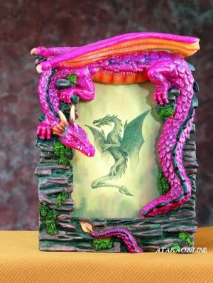 "DRAGON PICTURE FRAME - 3"" X 5"" -  (4924)"