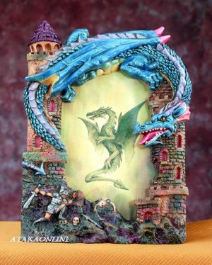 "DRAGON PICTURE FRAME - 3"" X 5"" -  (4935)"