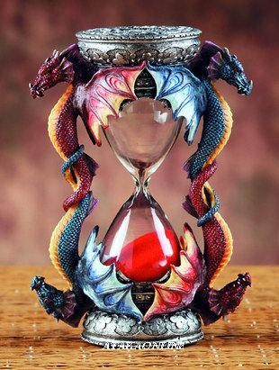 DRAGON SANDGLASS-FIGURINE-STATUE (5978)