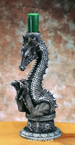 DRAGON CANDLEHOLDER-FIGURINE-STATUE (4824)