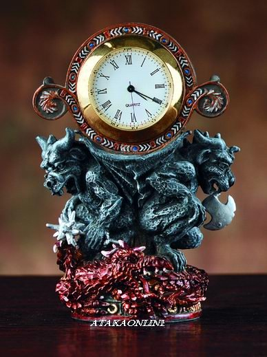MINI DRAGON GARGOYLE CLOCK  (4050)