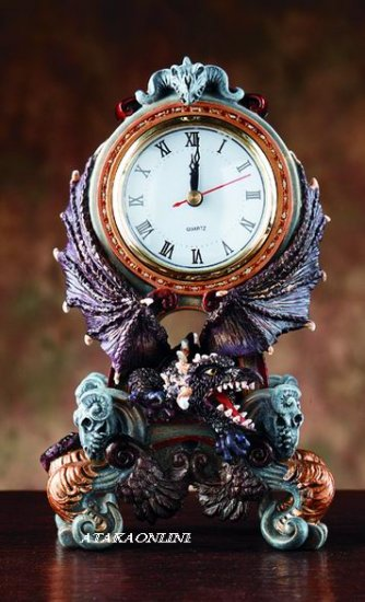 MINI DRAGON SKULL CLOCK  (4045)