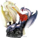 TWO FIGHTING DRAGONS-FIGURINE-STATUE (6294)