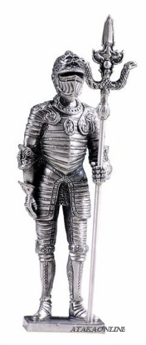 ITALIAN WARRIOR SUIT OF ARMOR-PEWTER-FIGURINE (6163)6170s