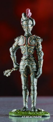 WARRIOR SUIT OF ARMOR-PEWTER-FIGURINE (6026)