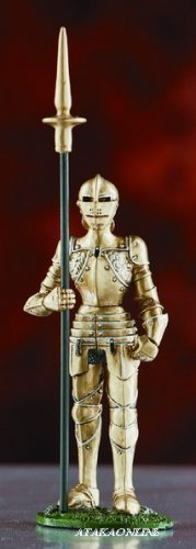 WARRIOR SUIT OF ARMOR-PEWTER-FIGURINE (6028)
