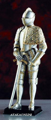 MEDIEVAL SUIT OF ARMOR-FIGURINE-STATUE (5975)