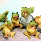 SET OF 6-FROGS-FIGURINES-DISPLAY-FUN (5175)