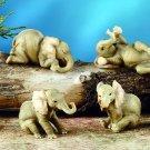 SET OF 6-BABY ELEPHANTS-FIGURINES-DISPLAY-FUN (5902)
