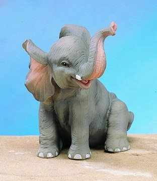 SMALL ELEPHANT-FIGURINE-DISPLAY-FUN (4833)