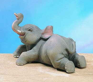 SMALL ELEPHANT-FIGURINE-DISPLAY-FUN (4834)