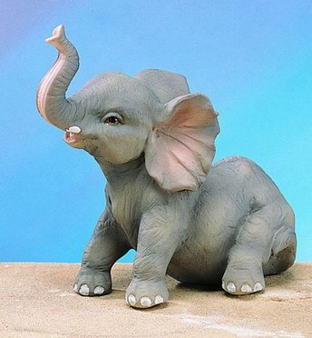 SMALL ELEPHANT-FIGURINE-DISPLAY-FUN (4836)