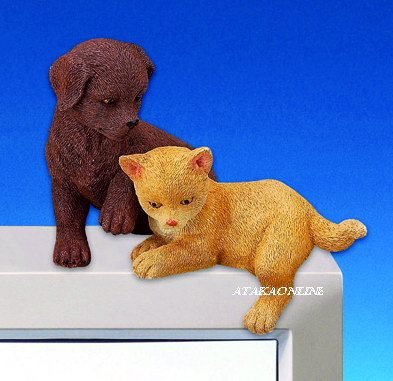 DOG & CAT-FIGURINES-PC TOPPER-FUN (3058)