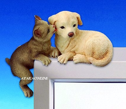 DOG & CAT-FIGURINES-PC TOPPER-FUN (3059)