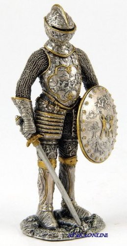 MEDIEVAL WARRIOR-PEWTER-FIGURINE (6597)