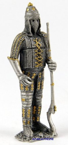 MEDIEVAL WARRIOR-PEWTER-FIGURINE (6600)