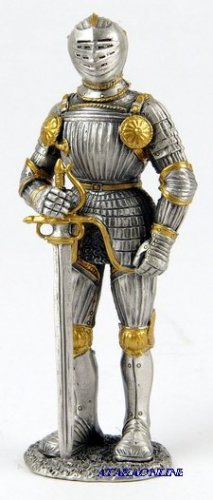 MEDIEVAL WARRIOR-PEWTER-FIGURINE (6601)
