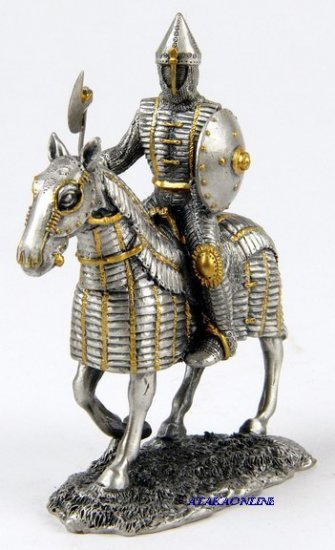 MEDIEVAL WARRIOR-PEWTER-FIGURINE-KNIGHT (6598)