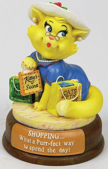 SHOPPING CAT-CUTIE-FIGURINE (6555)