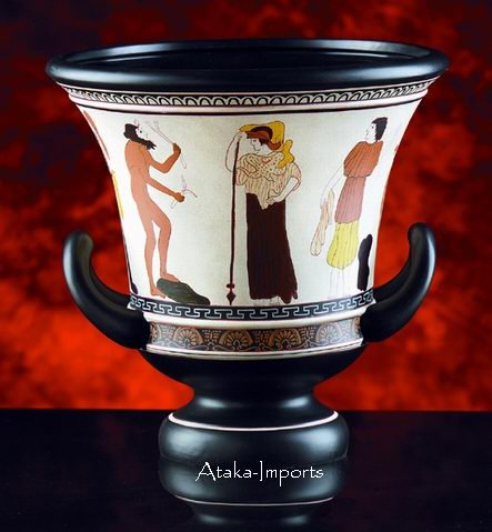 GREEK ANTIQUE VASE-CALYX KRATER-ODYSSEUS CRATER (6049m)