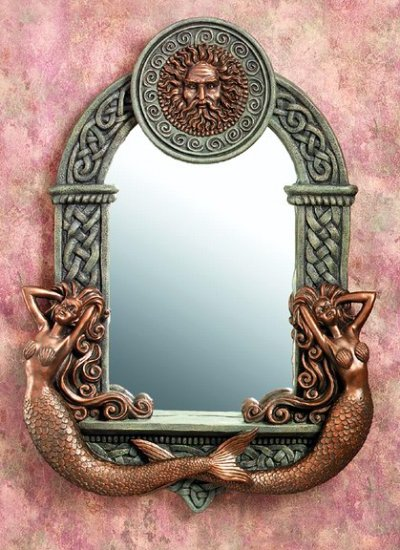 MERMAID MIRROR W SUN GOD-VERY DETAILED-LIMITED EDITION (5940)