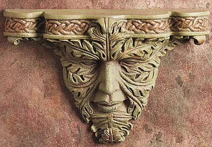 GREEN MAN-CELTIC WALL BRACKET-SHELF-LIMITED EDITION  (5932)