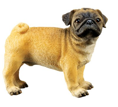 PUG DOG FIGURINE (6313s)