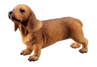 RED DACHSHUND PUPPY-DOG FIGURINE CUTE (6316s)