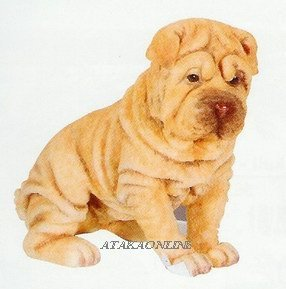 SHARPEI PUPPY-DOG FIGURINE CUTE (6619s)