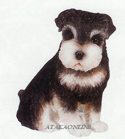 SCHNAUZER PUPPY-DOG FIGURINE CUTE (6620s)