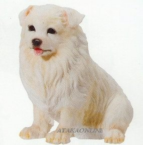 SAMOYED-THE SMILEY DOG-PUPPY-DOG FIGURINE CUTE (6621s)