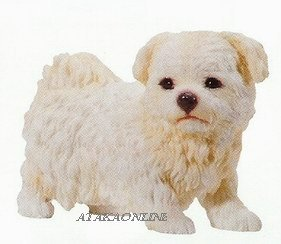 MALTESE PUPPY-DOG FIGURINE CUTE (6624s)